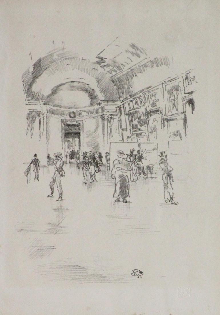 James Abbott McNeill Whistler - The Long Gallery Louvre