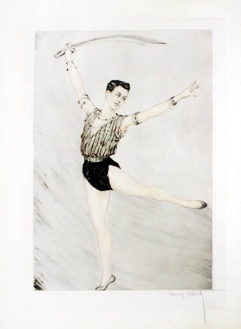 Louis Icart - Nijinsky (Russian Ballet Dancer)