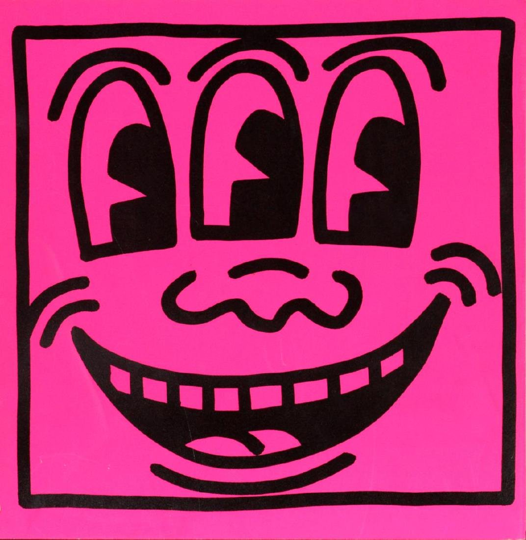 "Keith Haring - Color Serigraph from ""Tony Shafrazi"""