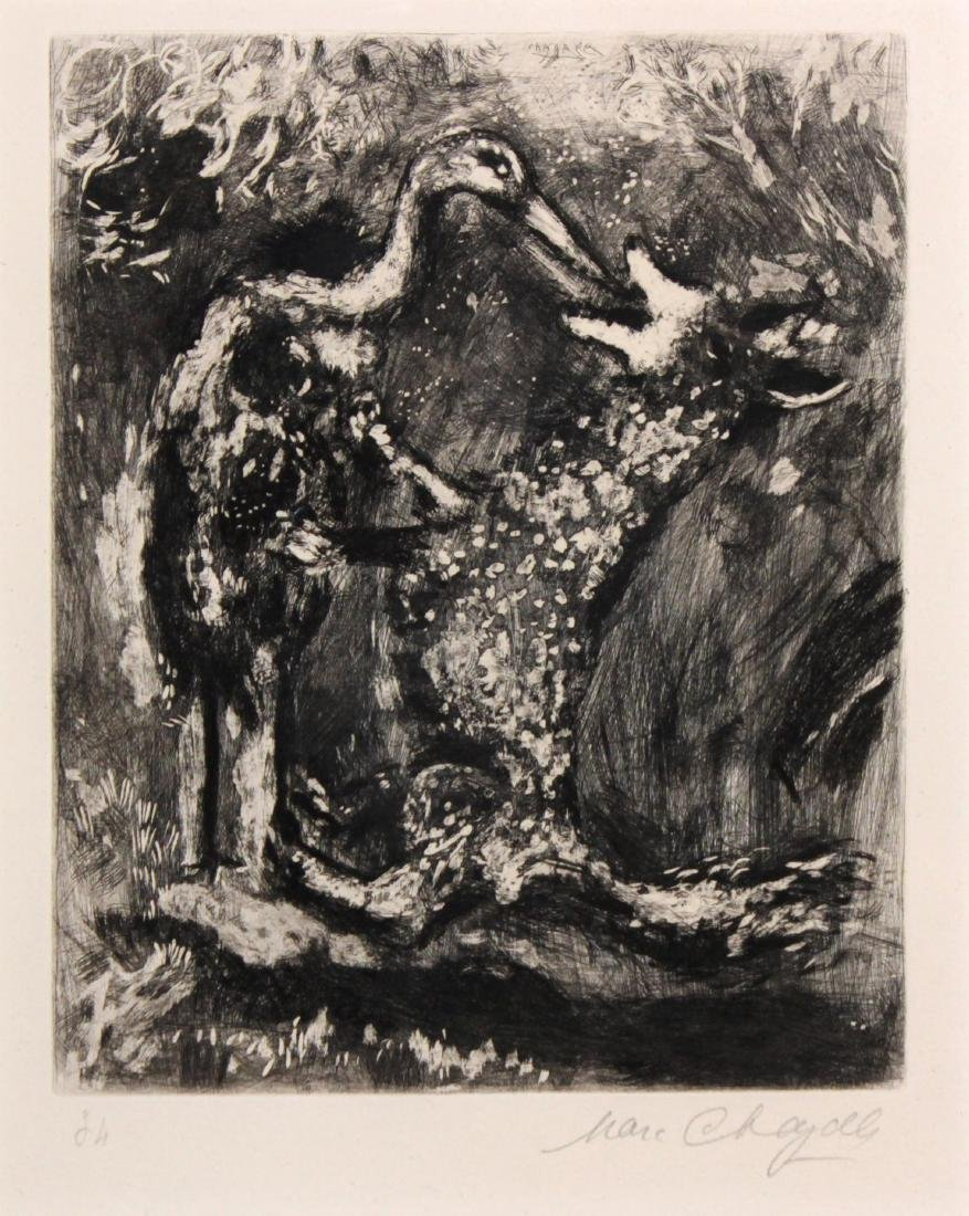 Marc Chagall - The Wolf and the Stork