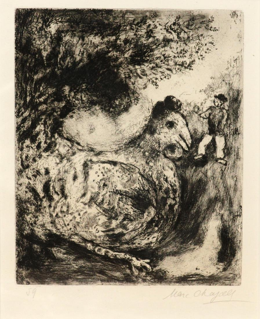 Marc Chagall - The Hen with Gold Eggs
