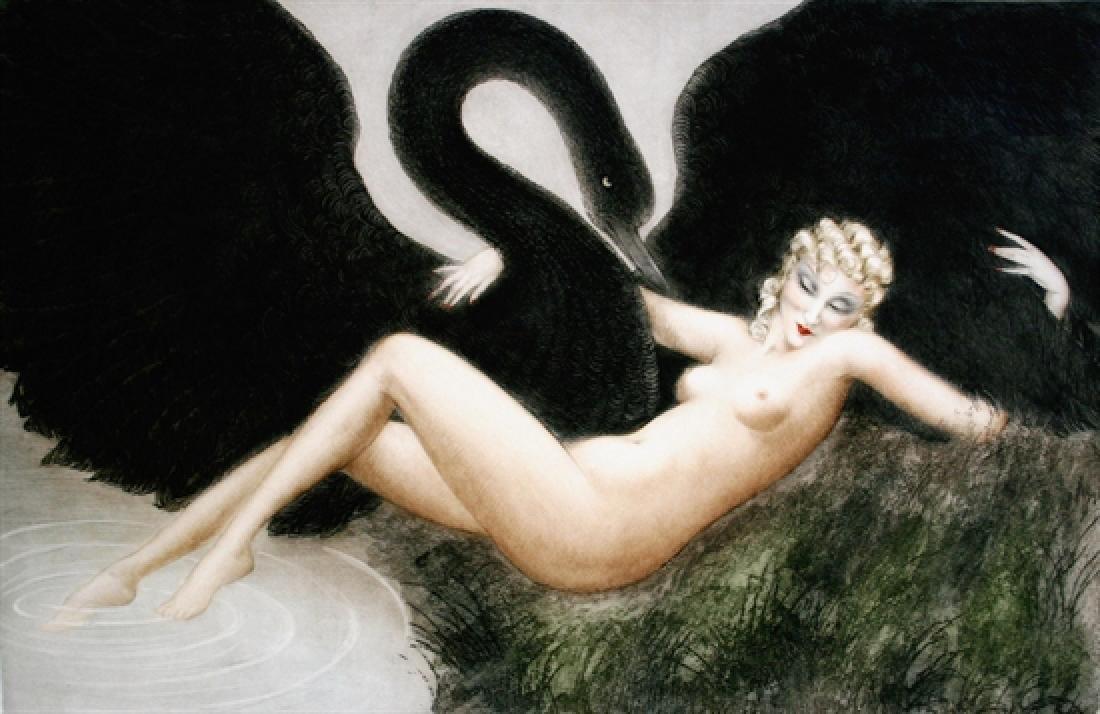 Louis Icart - Leda and the Swan