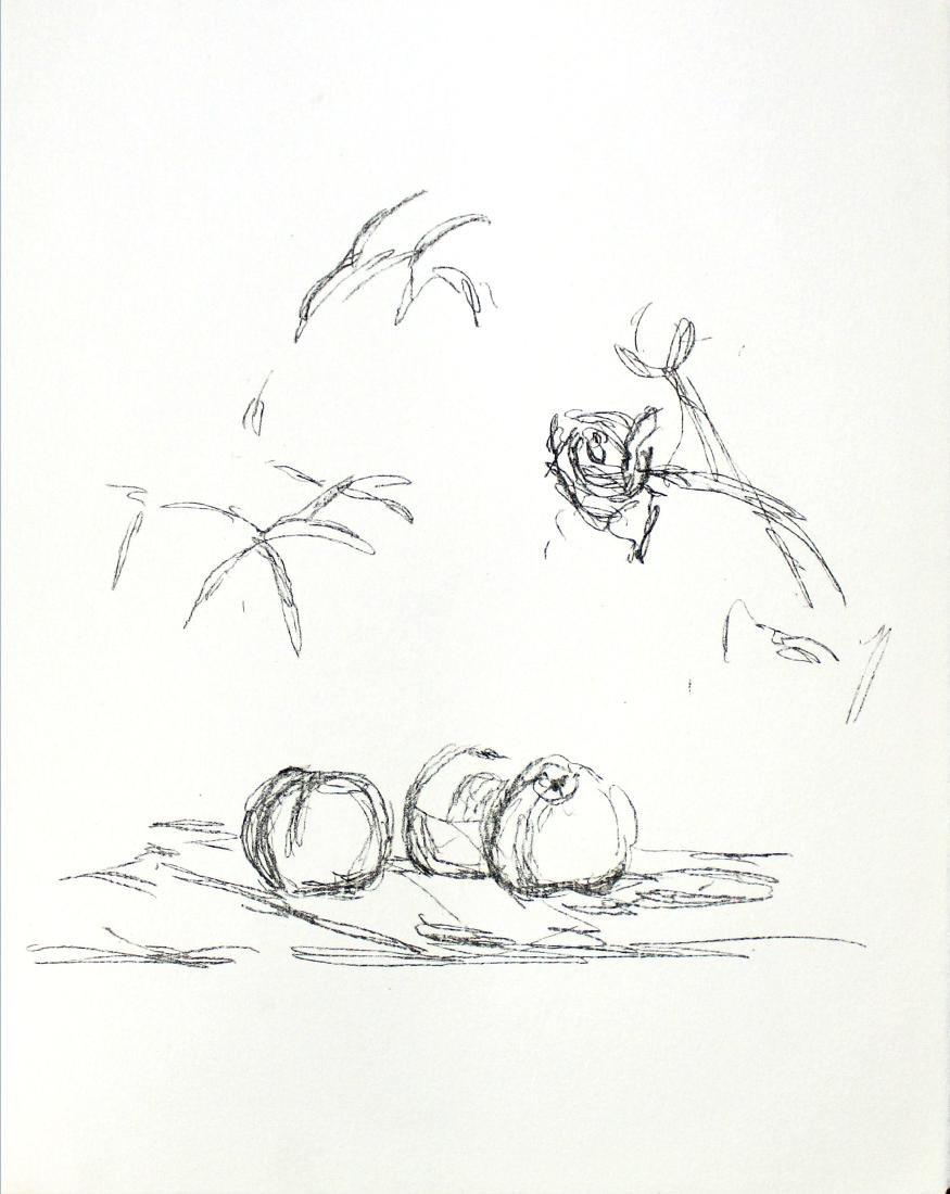 """Giacometti - """"Fleurs"""" from Souvenirs de Portraits"""