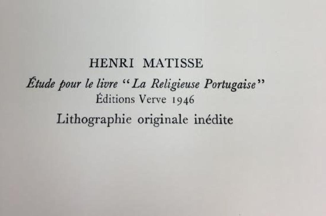 """Henri Matisse - """"Etude pour le livre """"La Religieuse - 2"""