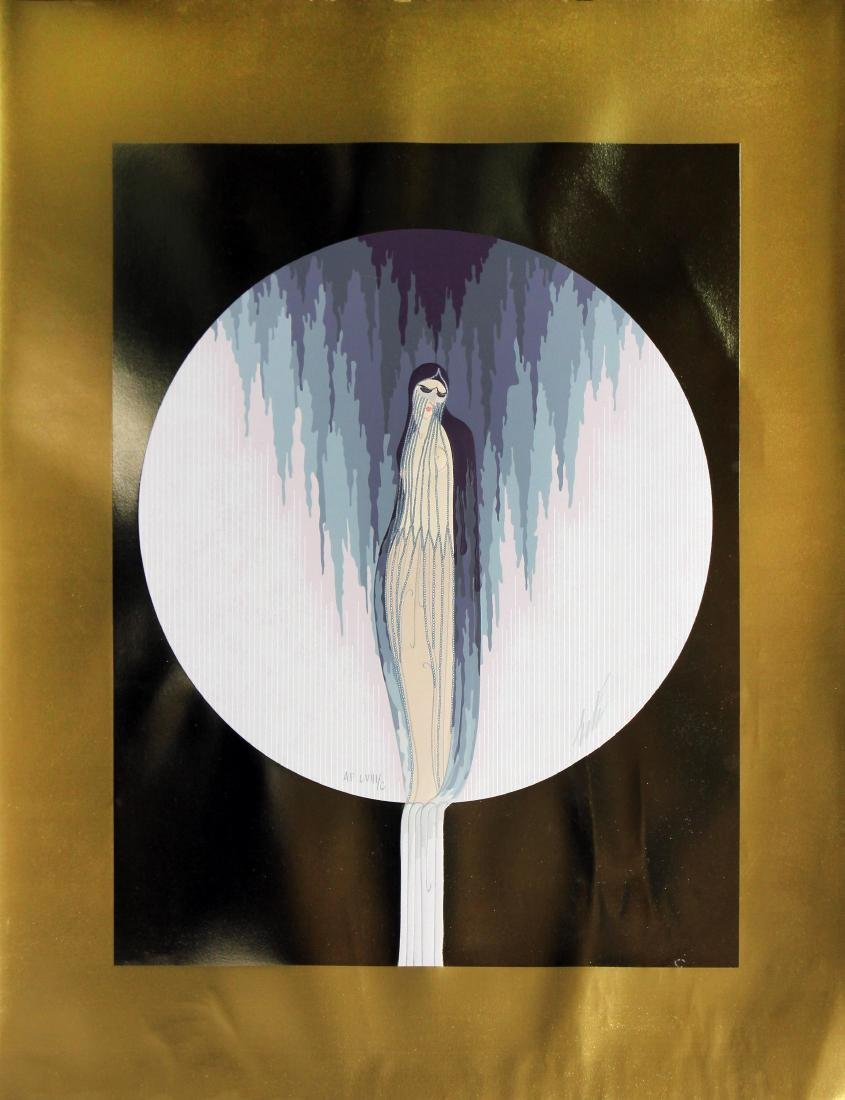 """Sadness from """"Four Emotions"""" Suite by Erte"""