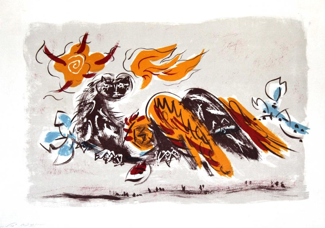 Andre Masson - Untitled (Angel Wings on Fire)