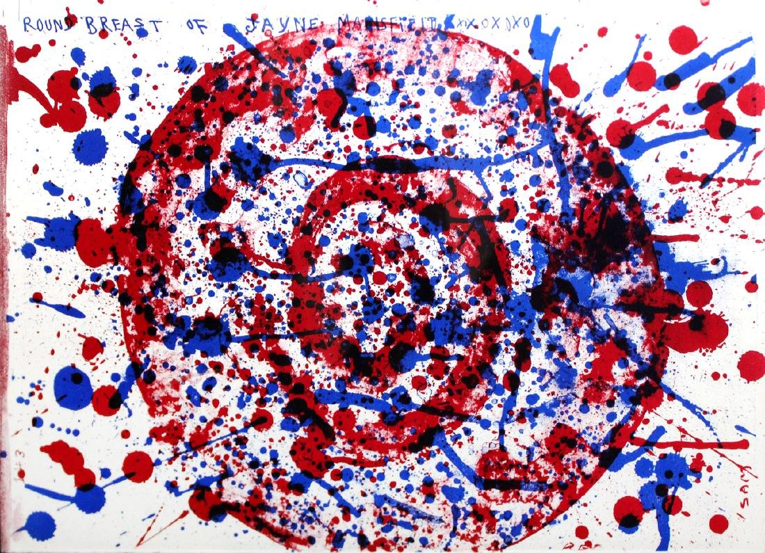 "Sam Francis ""Round Breast of Jayne Mansfield"""