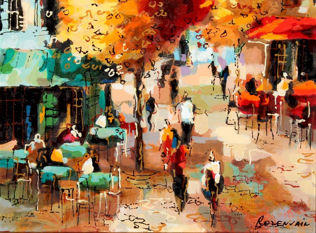 Parisian Cafe by Michael Rozenvain
