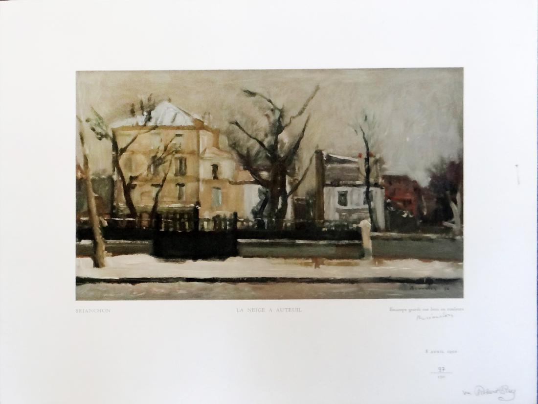 """Maurice Brianchon """"La Neige a Auteuil"""""""