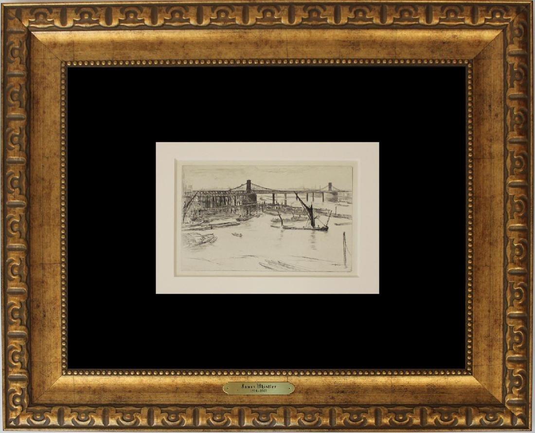 """James Abbott McNeill Whistler """"Old Hungerford Bridge"""" - 2"""