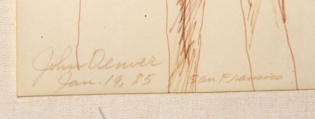 LeRoy Nieman - Original Drawing of John Denver - 3