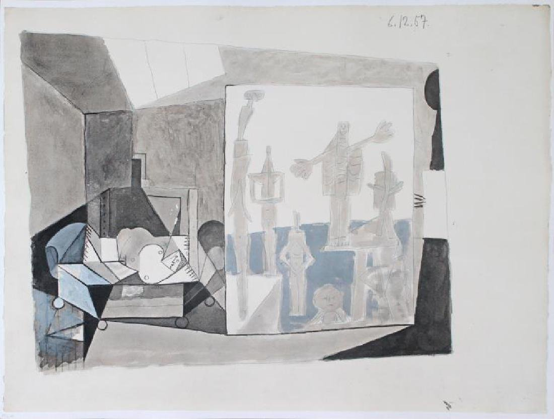 Pablo Picasso - Untitled (6.12.57)