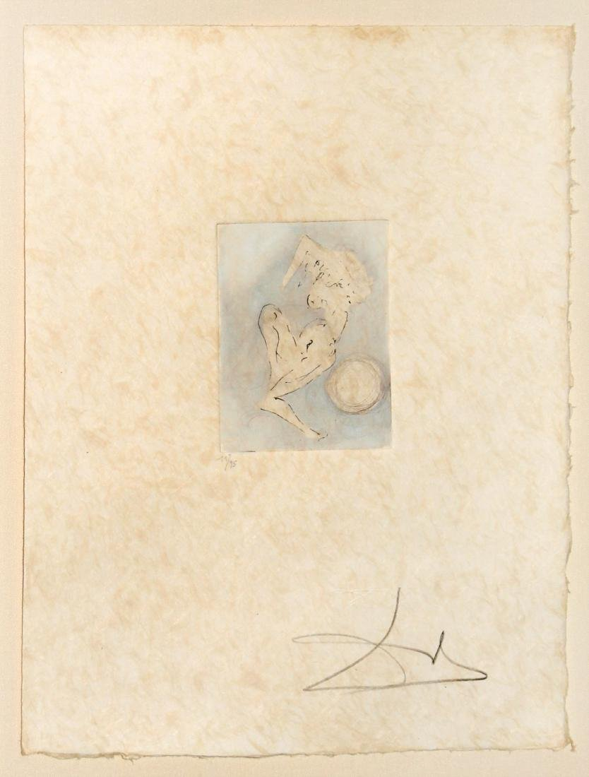 Salvador Dali - Petit Nus Hand Colored Etching