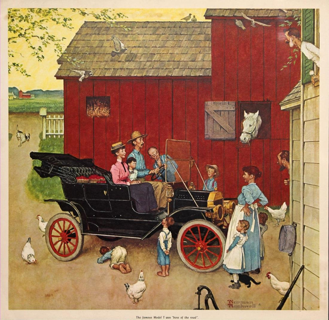 Norman Rockwell The Famous Model T was Boss of the Road