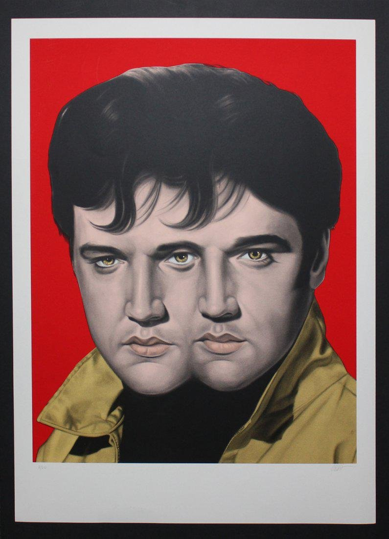 "Ron English ""Red Elvis"""