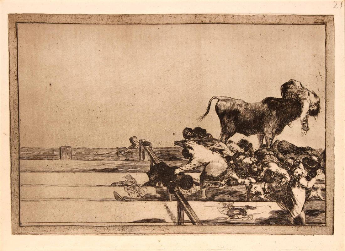 Francisco Goya - Malheurs arrives dans les Gradins de
