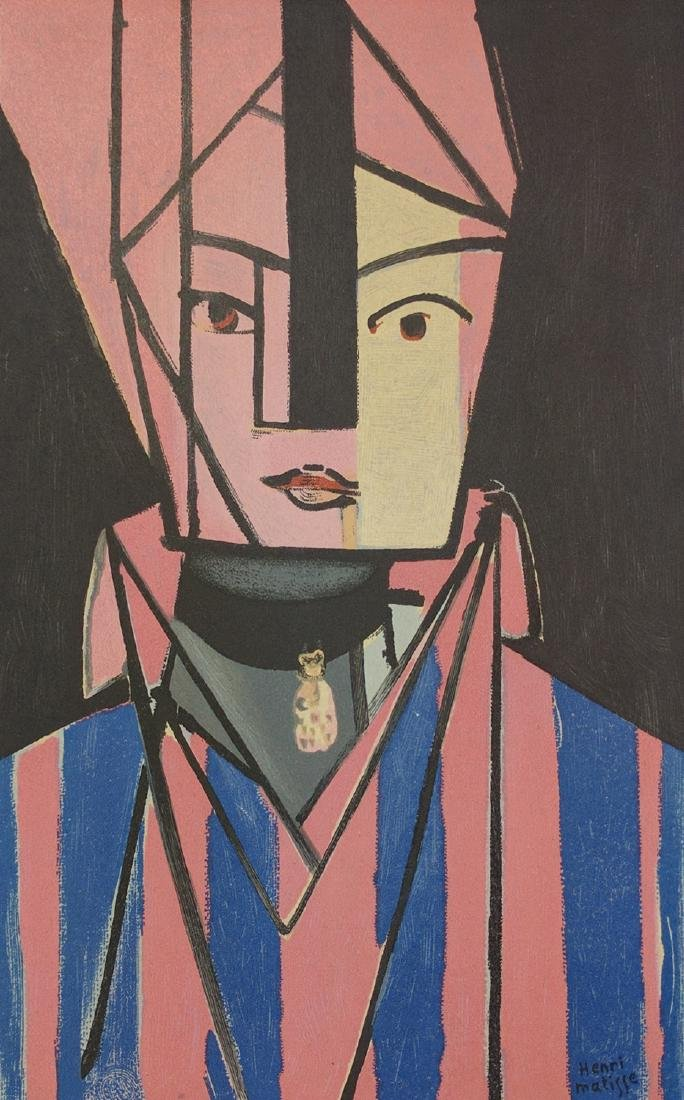 """Henri Matisse (After) """"White and Rose Head"""""""