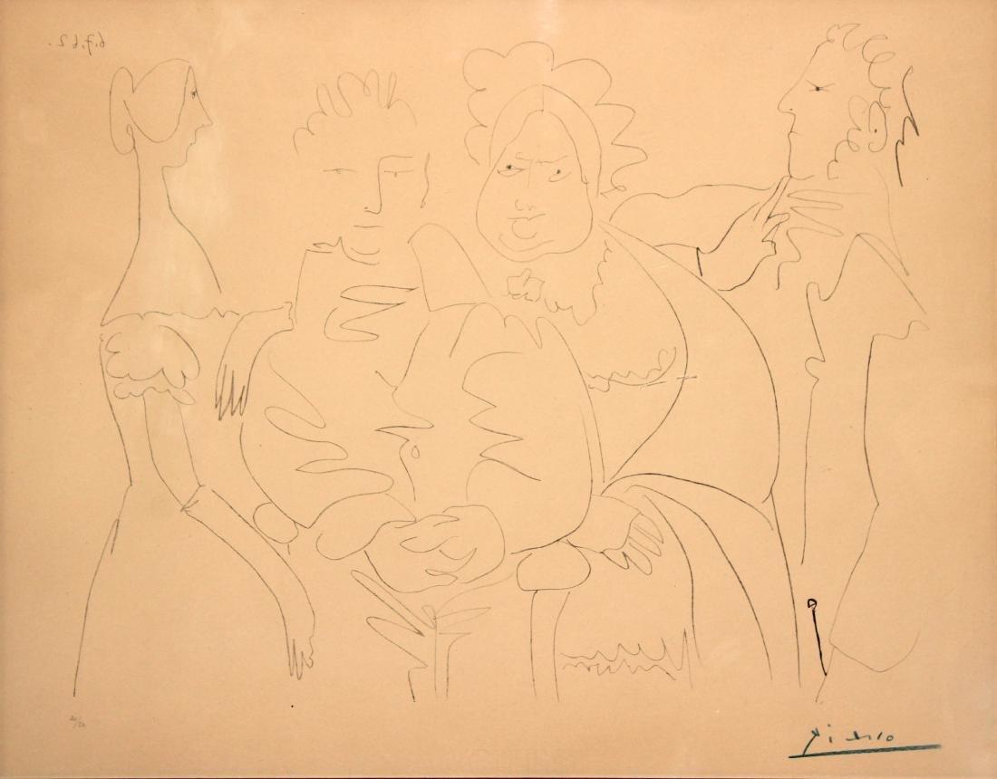 Portrait de Famille Quatre Personnages by Pablo Picasso