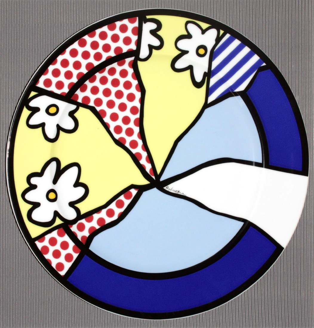 Roy Lichtenstein - Water Lillies Porcelain Plate