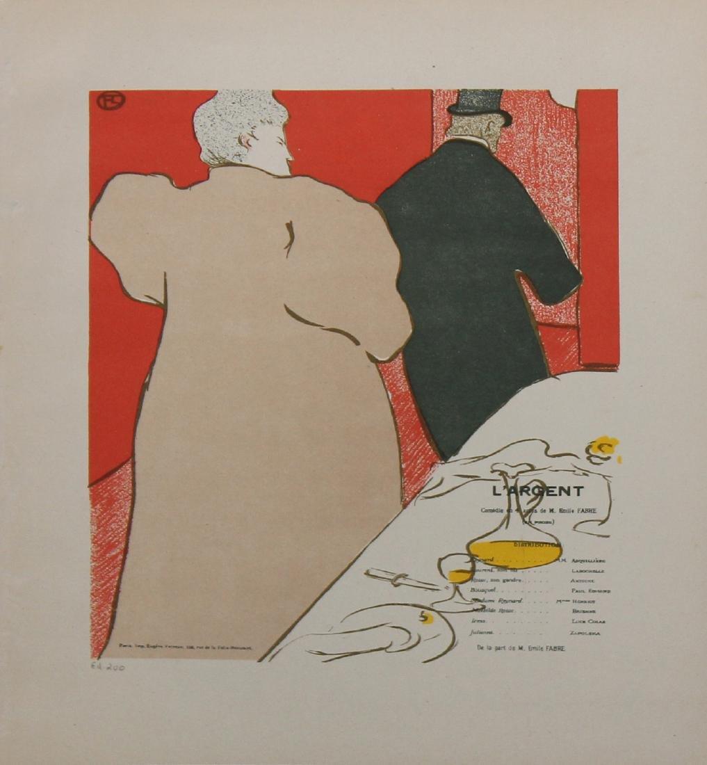 """Henri de Toulouse-Lautrec """"Un Monsieur et une Dame, - 2"""
