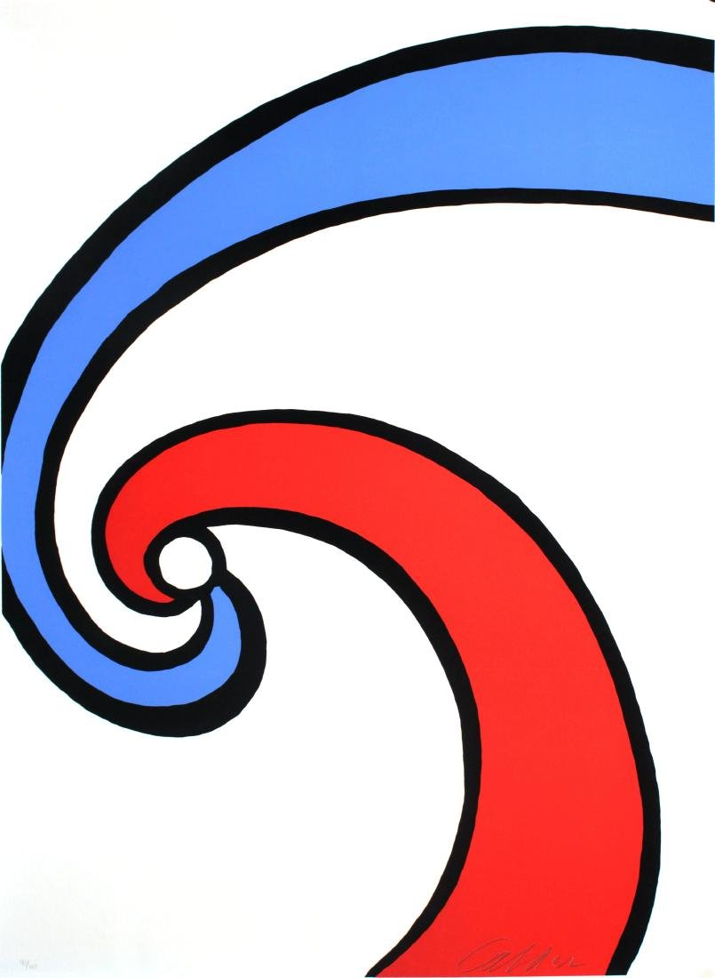 Alexander Calder - Red and Blue Swirl