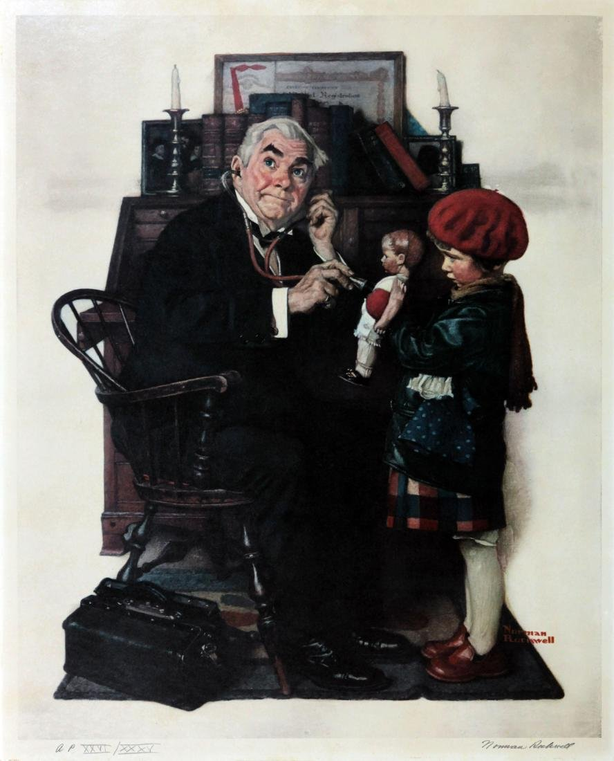 Norman Rockwell - Doctor and the Doll