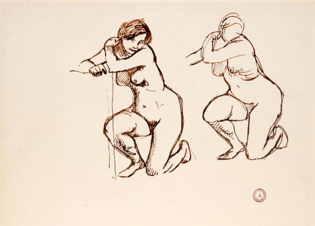 Ludovic-Rodo Pissarro - Two Kneeling Nudes