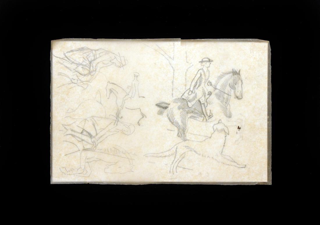 Ludovic-Rodo Pissarro - Sketches of Riders