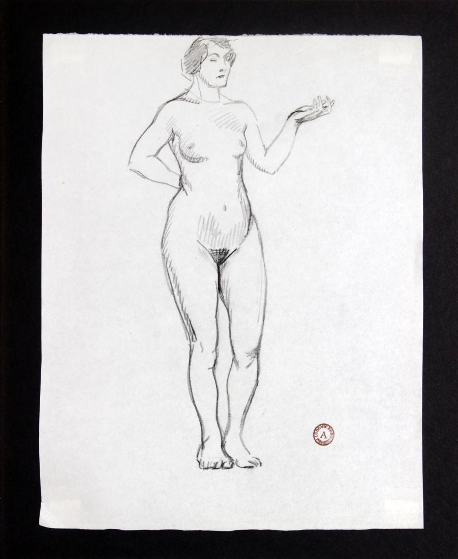 Ludovic-Rodo Pissarro - Standing Nude