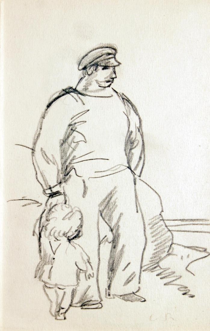 Ludovic-Rodo Pissarro - Man with Child