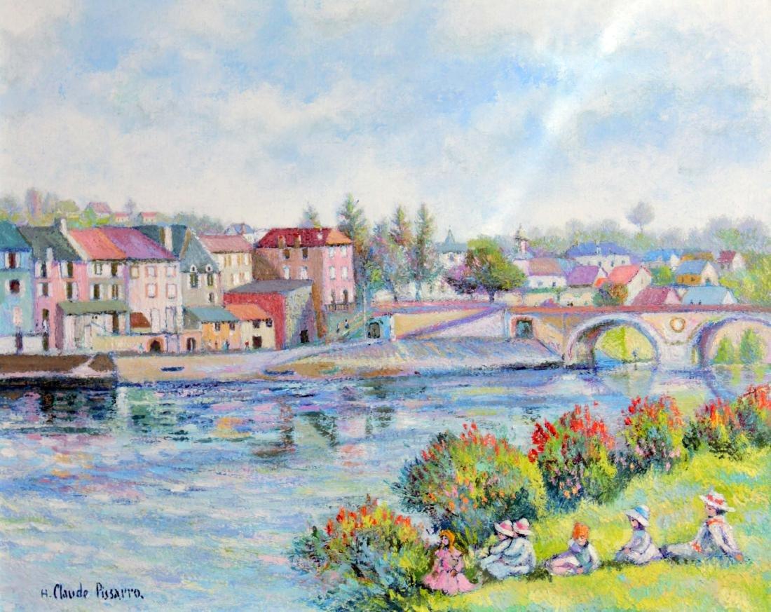 H. Claude Pissarro - La Pont-Viel Arnouville sur Saone