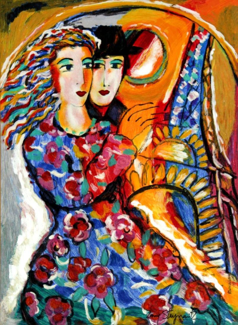 Zamy Steynovitz - Woman in Floral Dress