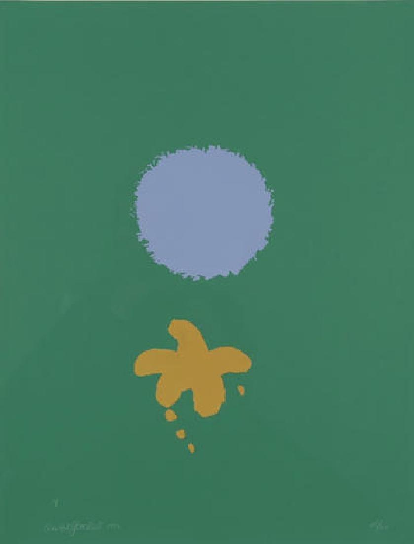 Adolph Gottlieb - Green Ground Blue Disc
