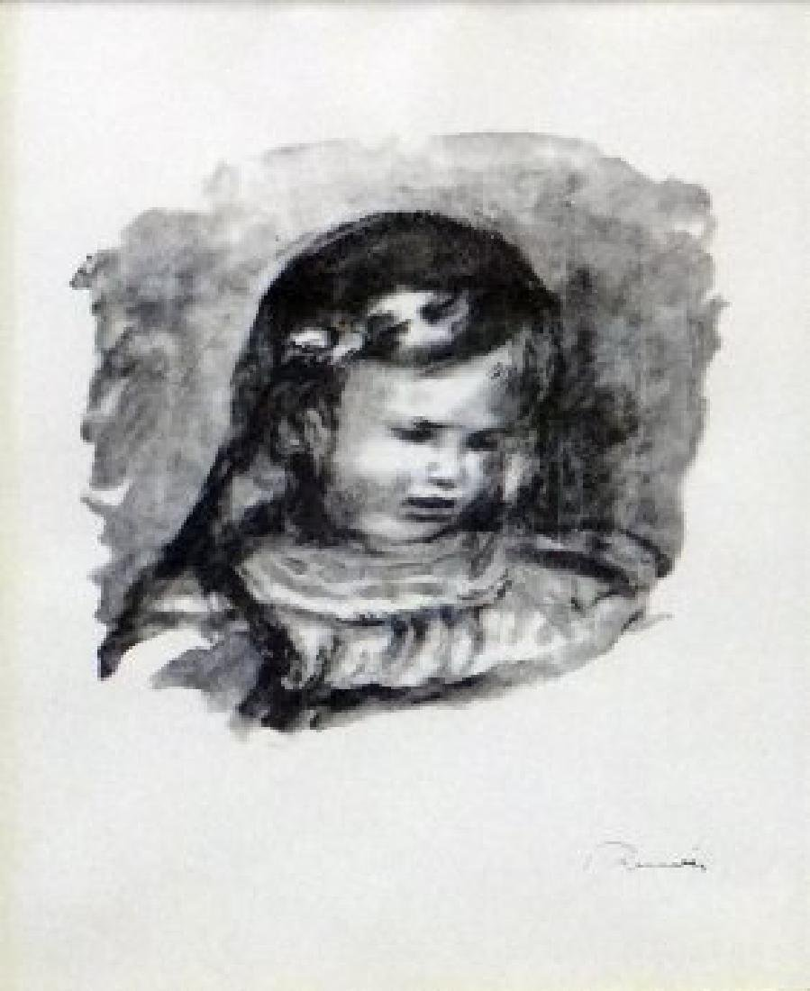 "Pierre-Auguste Renoir ""Claude Renoir, La Tete Baissee"""