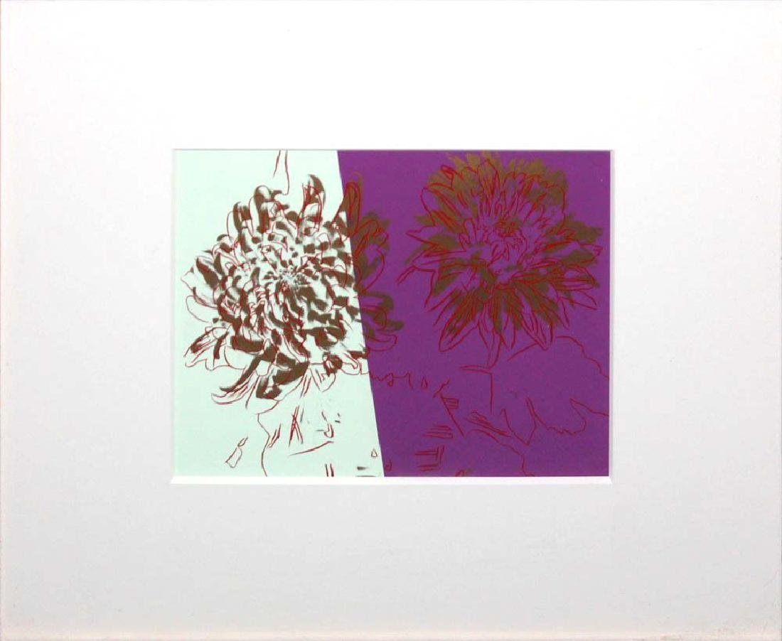 "Andy Warhol ""Kiku"" Orig Serigraph in Colors on Paper"