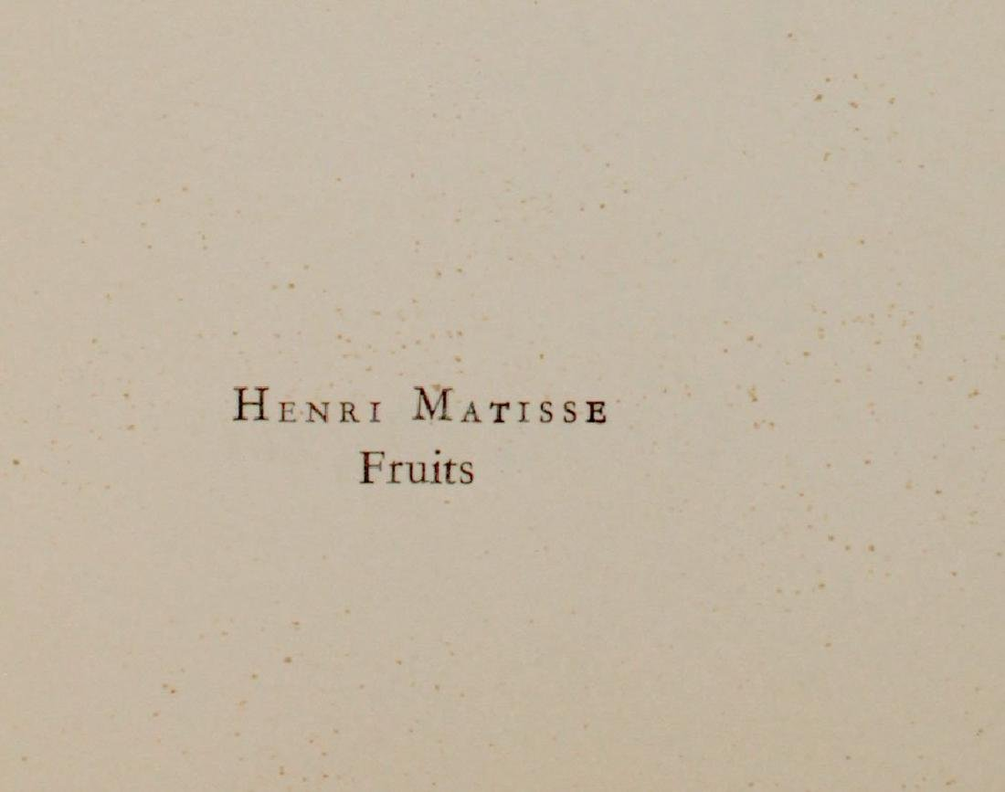 "Henri Matisse ""Fruits"" - 2"