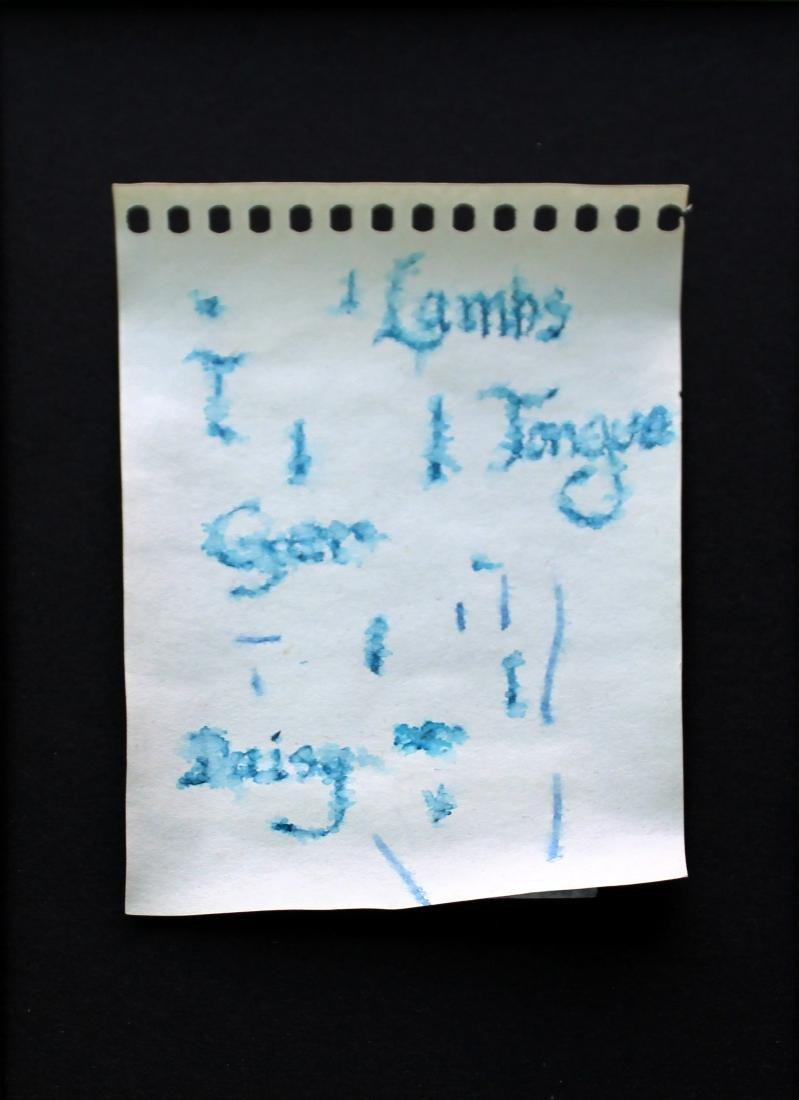 Jerry Garcia - Original Notebook Page