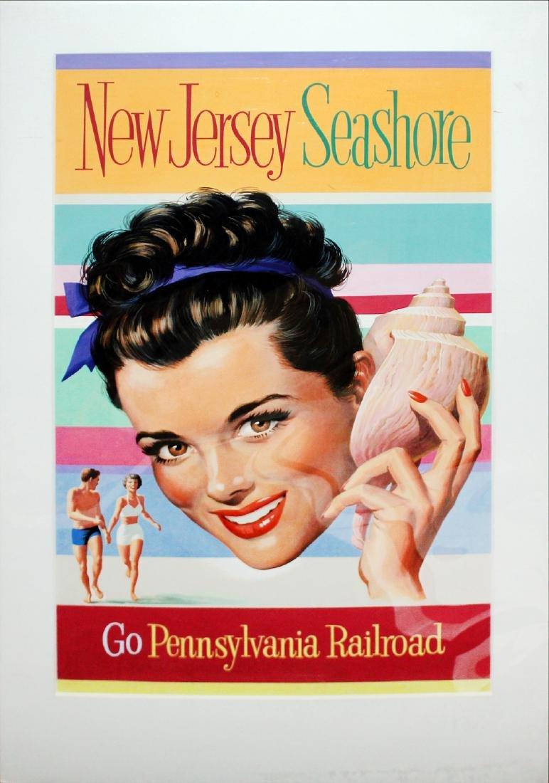 Vintage Poster - Pennsylvania Railroad Maquette