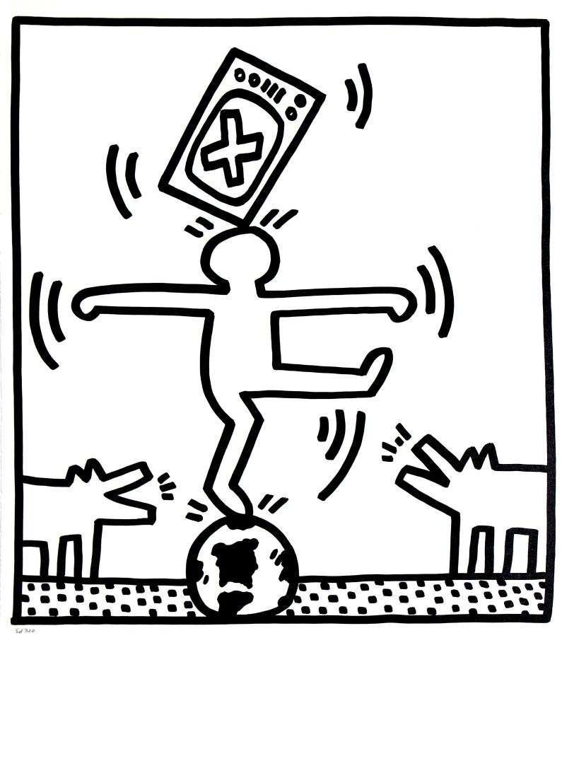 "Keith Haring - From ""Lucio Amelio Gallery Portfolio"""
