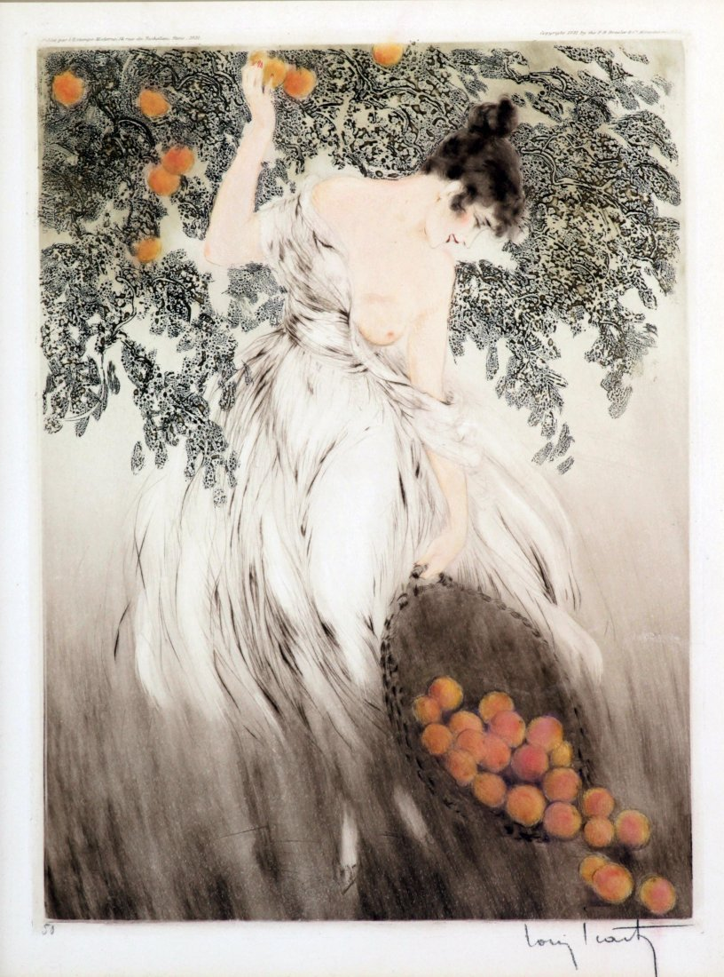 Louis Icart - Spilled Oranges