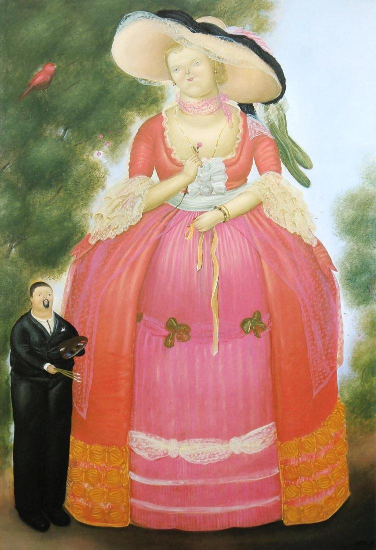 Fernando Botero (after) - Self-portrait with Madame