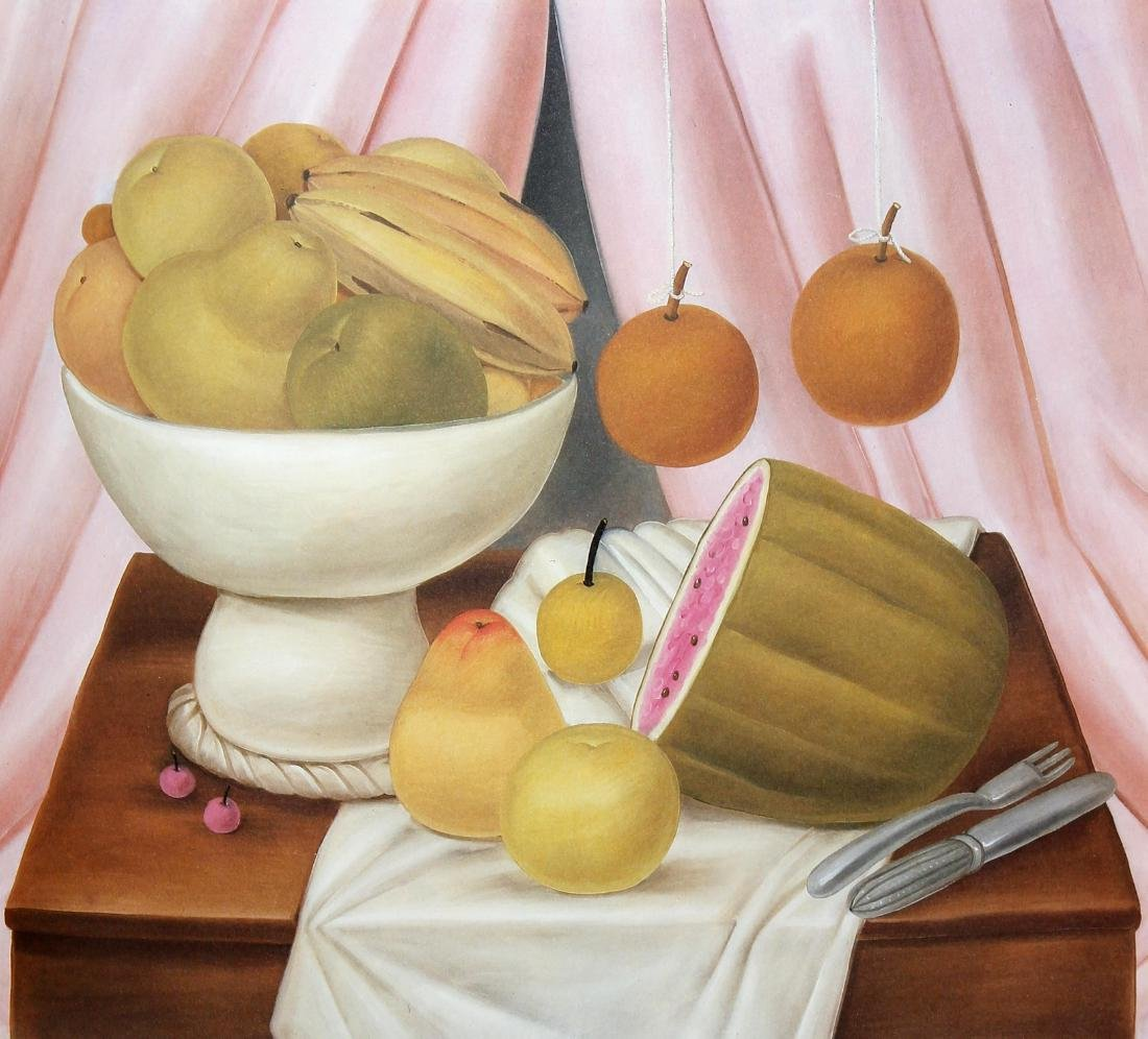 Fernando Botero (after) - Still-life with Fruit Bowl