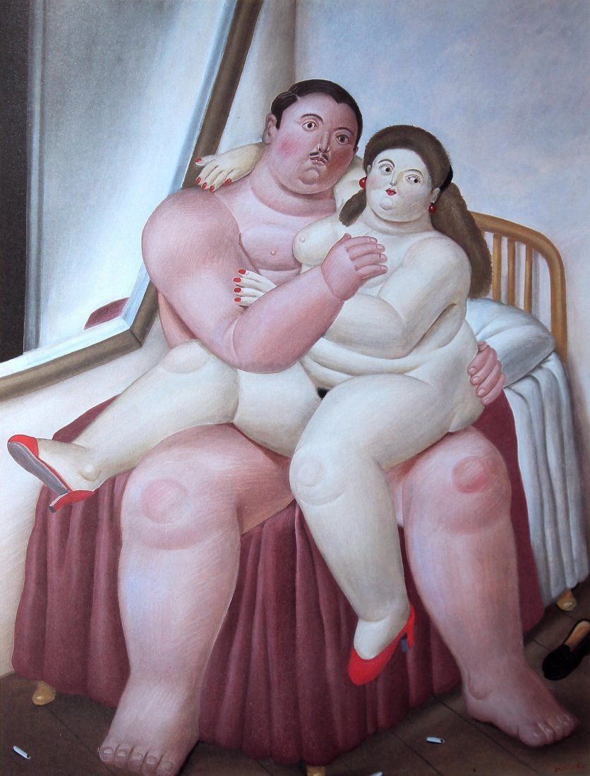Fernando Botero (after) - Lovers