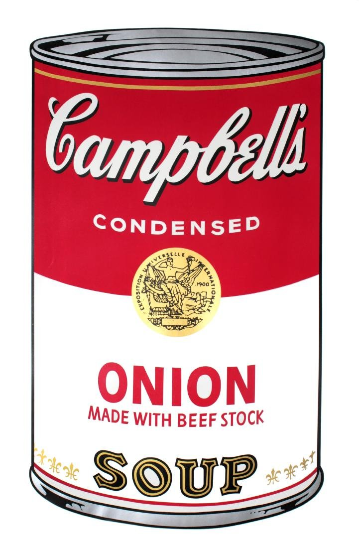 Andy Warhol - Campbell's Soup I: Onion Made With Beef