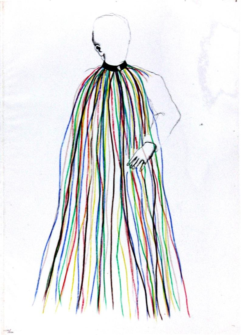 Jim Dine -  Dorian Gray in Multi-Colored Vinyl Stripe