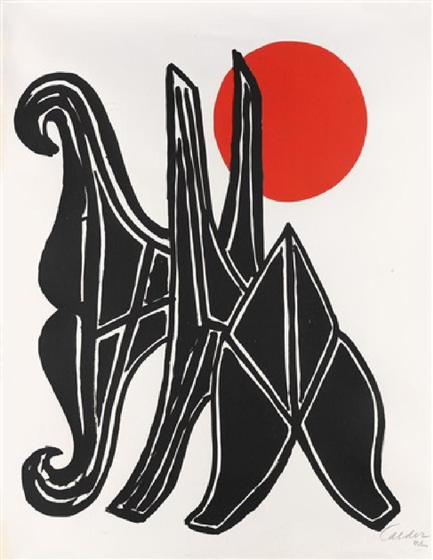 Alexander Calder - Young Woman and her Suitors