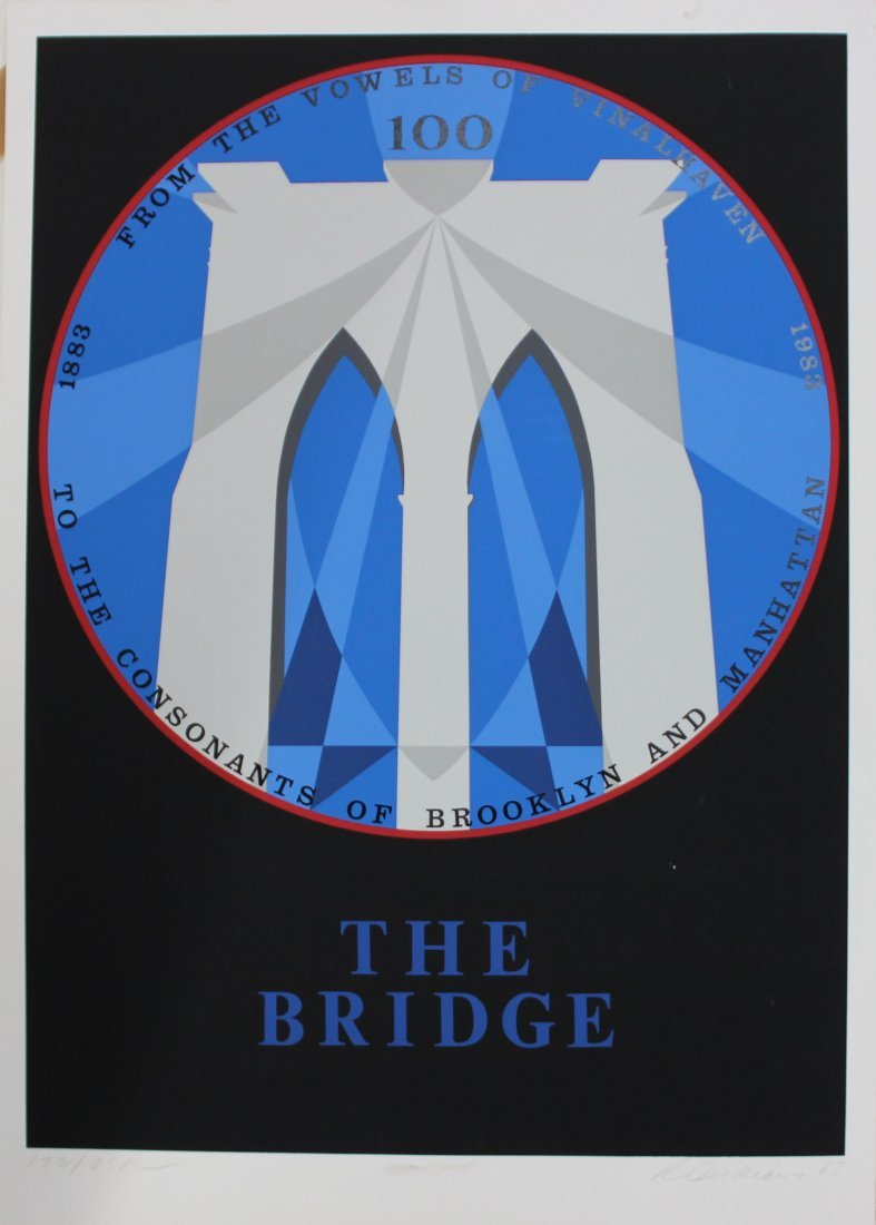 "Robert Indiana - Brooklyn Bridge from ""New York, New"