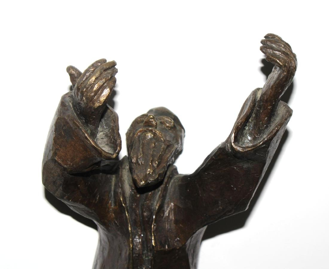 "Gizel Berman - Cast Bronze Rabbi Sculpture from ""Albums - 2"