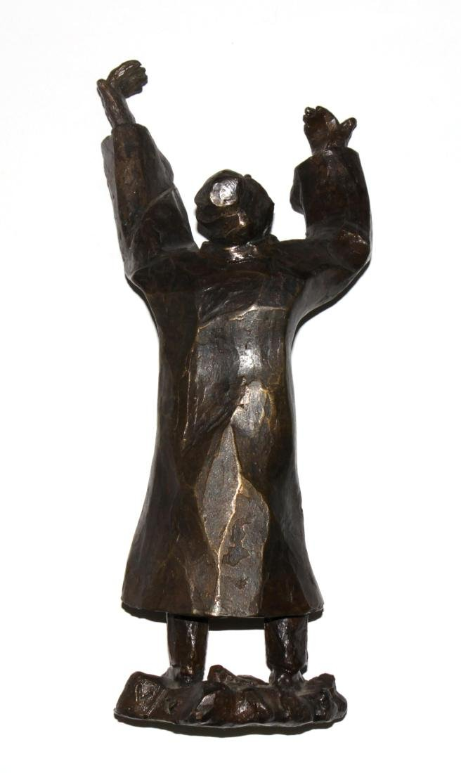 "Gizel Berman - Cast Bronze Rabbi Sculpture from ""Albums - 3"