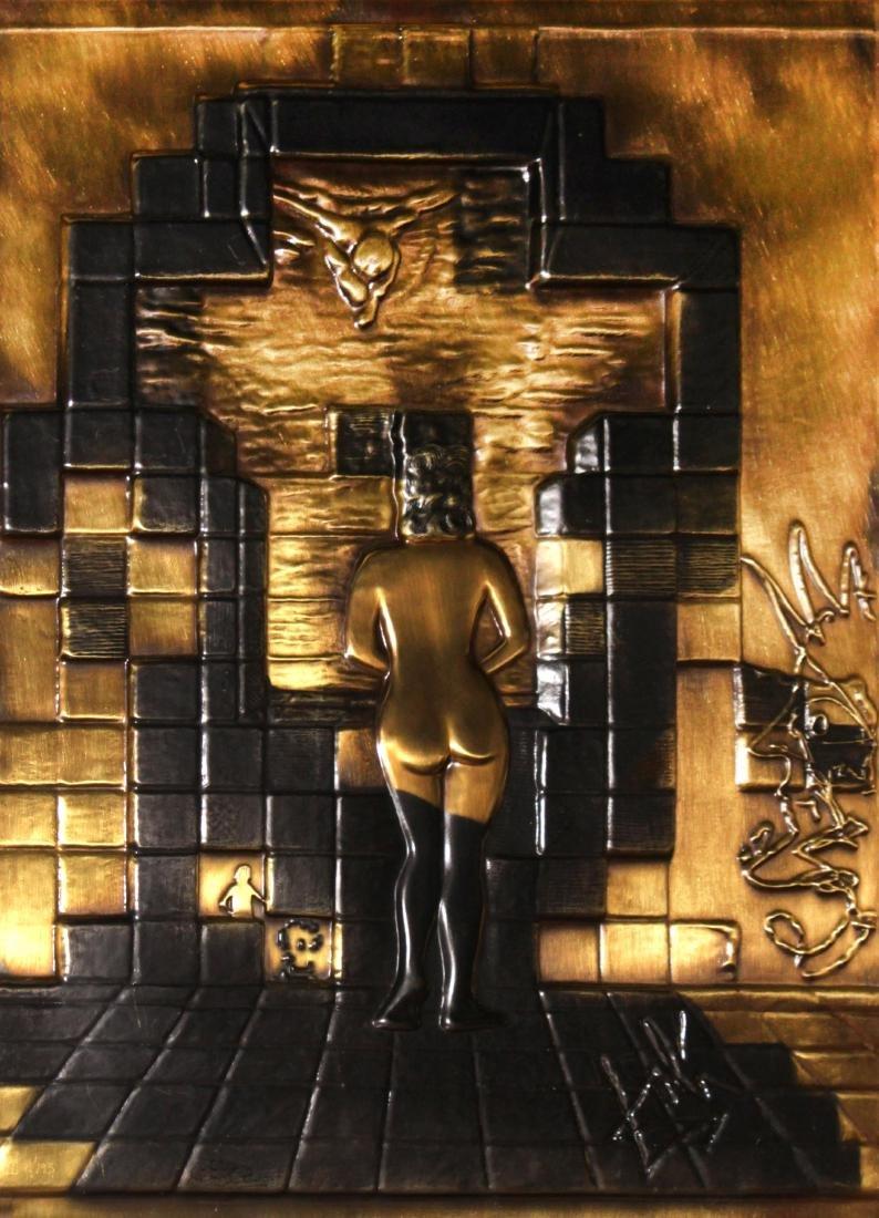 Salvador Dali - Lincoln in Dalivision Bronze Relief